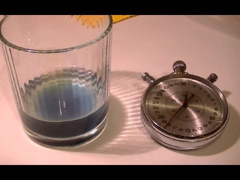 iodine clock Best answer: heyheyfuff, to get the second answer of this, you need to know how the iodine clock experiment works (if you know this already skip down below the asterisks): this reaction starts from a solution of hydrogen peroxide with sulfuric acid to this is added a solution containing potassium iodide.