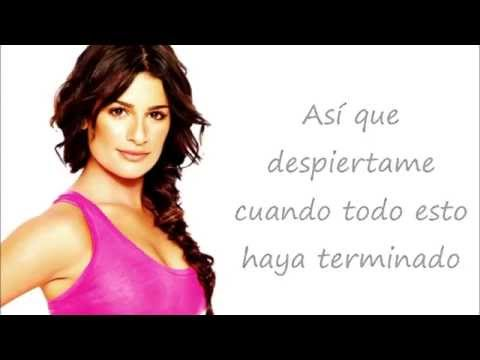 Glee- Wake me up (Traducida al Español)