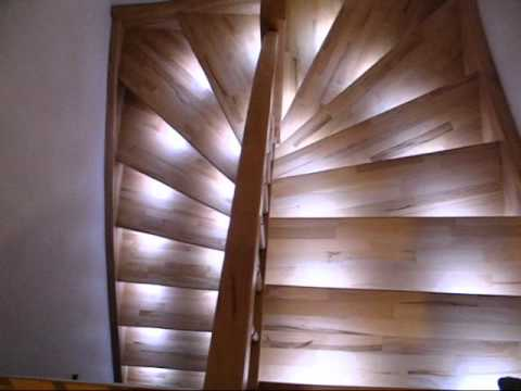staircase led automatic dimming lights youtube. Black Bedroom Furniture Sets. Home Design Ideas