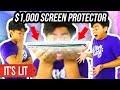 $1 VS $1000 iPhone X SCREEN PROTECTOR!