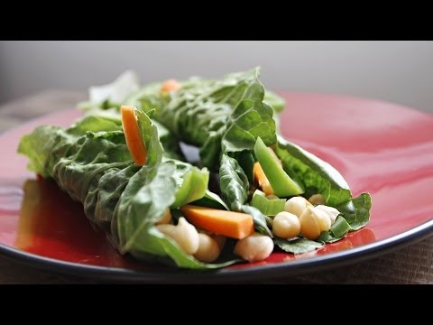 Easy Lettuce Wrap Recipe - Healthy Vegan Recipes On Video