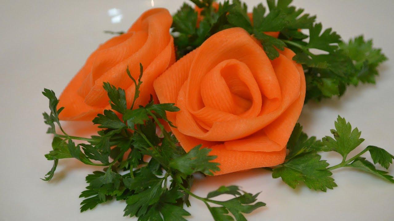 Украшение из моркови своими руками