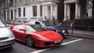 Ferrari F430 accelerates