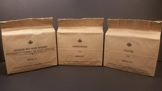 2014 Canadian IMPs Poutine MRE Review Tasting Meal Ready To Eat Ration Pack Army Food Unboxing