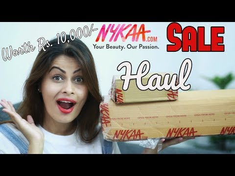 NYKAA SALE HAUL | Makeup & Skincare Haul | Worth Rs 10,000/- | Kavya K
