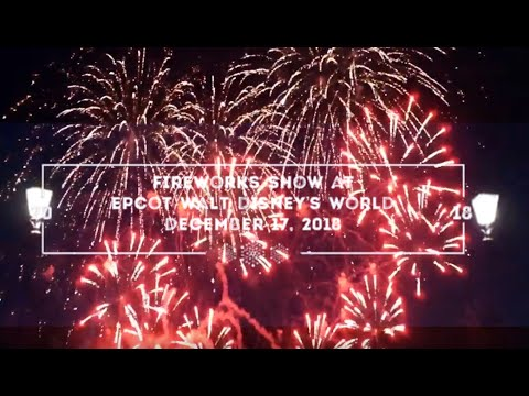 Fireworks Show At Epcot's Disney World 2018