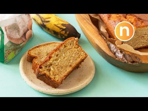 Healthy Banana Cake | Banana Bread (Less Sugar and Butter) [Nyonya Cooking]