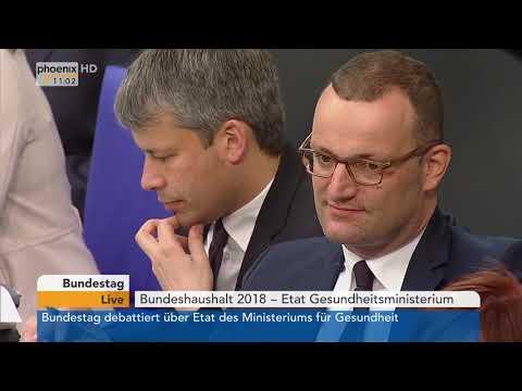 Bundestagsdebatte zum Etat für Gesundheit am 18.05.18