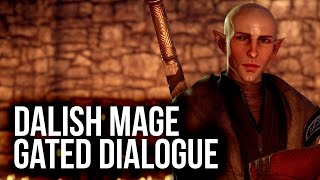 Dalish Elf Mage-specific Conversation with Solas at Haven (Dragon Age: Inquisition)