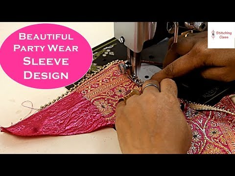Beautiful Party Wear Sleeves design Cutting and Stitching in easy method, Beautiful sleeves designs