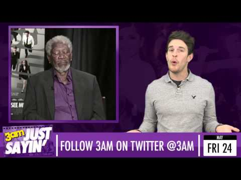 Morgan Freeman falls asleep and Kim Kardashian gets baby scan - Just Sayin' 24/05/13