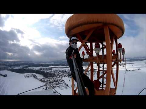 Climbing a Radio Tower in Horgenzell, Germany