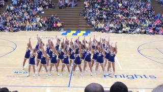 Castle Cheerleaders ~ Pep Assembly 💙💛 ~ February 10, 2017