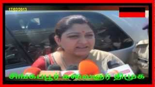 Kushboo Over Comment On Stalin  part  1