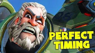 REINHARDT'S WET DREAM!! (PERFECT TIMING) - Overwatch Funny Moments & Best Plays #116