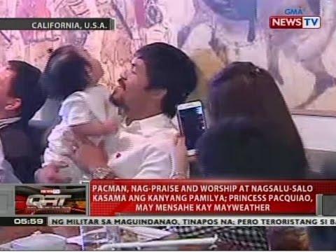 QRT: Pacman, nag-praise and worship at nagsalu-salo kasama ang kanyang pamilya