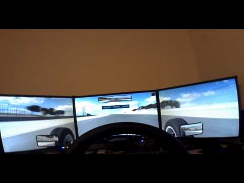 iRacing - SkipBarber around Laguna Seca - POV camera