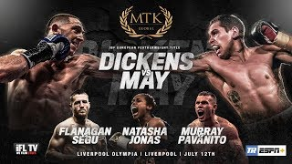 LIVE PROFESSIONAL BOXING! 'MTK FIGHT NIGHT LIVERPOOL'  -DICKENS-MAY / TERRY FLANAGAN /MARTIN MURRAY