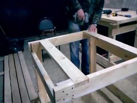 Как сделать распиловочный стол из ручной циркулярной пилы своими руками
