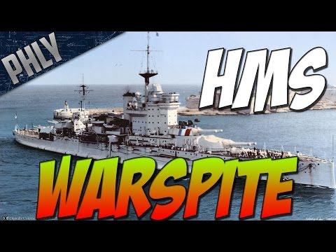 World Of Warships  - BATTLESHIP WARSPITE - Royal NAVY Battleship Gameplay
