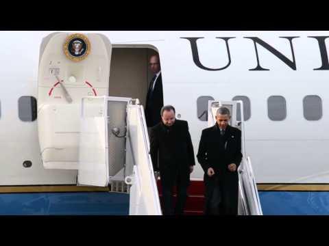 Obama and Hollande Visit Charlottesville