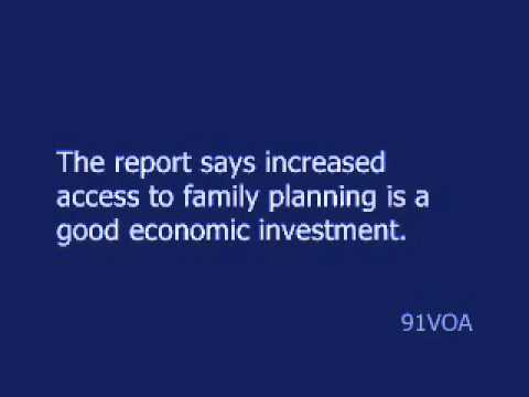 [91VOA]UN Says Family Planning Pays Big for Developing Countries