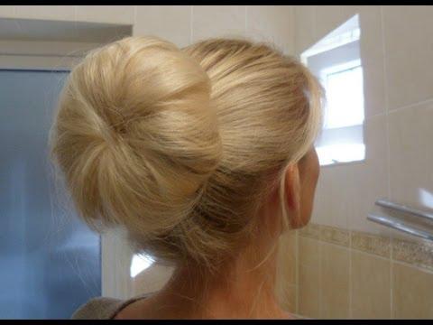 ♡ КРАСИВЫЙ ПУЧОК БЕЗ ШПИЛЕК ♡ How To: Quick Messy Bun ♥ Clip Hair Extensions