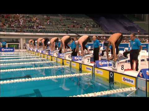 All the action from the Men's 200m Breaststroke final. Christian Sprenger wins from Brenton Rickard and Craig Calder in 2:12.04.