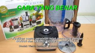 Vienta - Tips Menggunakan Vienta Food Processor