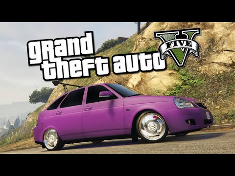 GTA 5 Mods : Lada Priora Hatchback - ОБЗОР