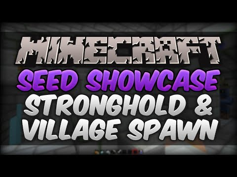 Minecraft 1.8 Seed Showcase - Exposed Stronghold & Village AT SPAWN!