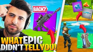 EVERYTHING Epic DIDN'T Tell You About The Patch! (Fortnite Battle Royale Chapter 2)