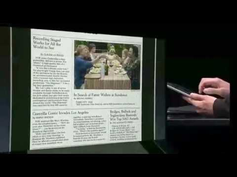 Apple iPad: The New York Times demo