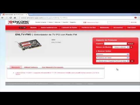 Instalacion  de sintonizador de TV PCI con radio fm ENLTV-FM3