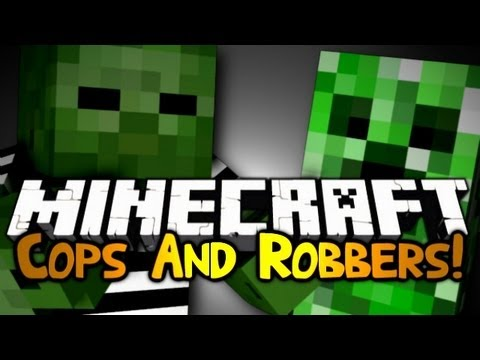 Minecraft: Mini Game: Cops & Robbers! #6 | MOBS CAN'T PLAY!