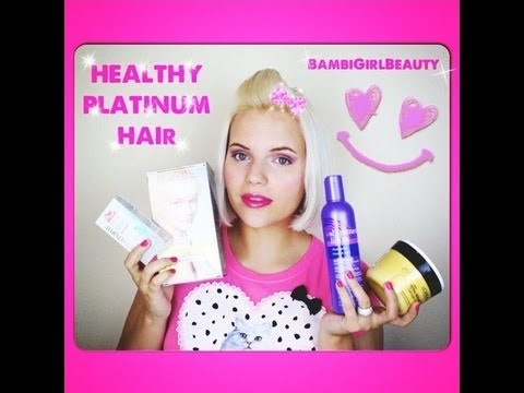 Get Healthy Platinum Blonde Hair