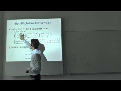 Lecture 2: Visual Navigation for Flying Robots (Dr. Jürgen Sturm)