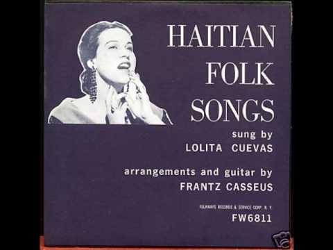Lolita Cuevas accompanied by guitarist Frantz Casseus - Mesi Bon Dieu (1953)