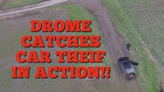 DRONE STOPS CAR THIEF IN ACTION!! (used to catch cheating wife alternative)
