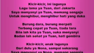Download Lagu Lagu dan Tari Nusantara: KICIR KICIR - Lagu Anak Gratis STAFABAND