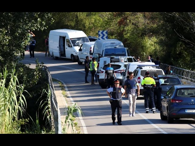 Police: Suspect in Barcelona van attack shot dead