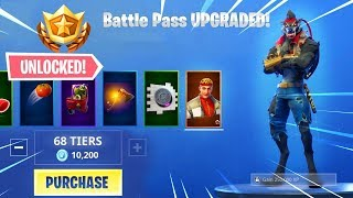 BUYING ALL 100 TIERS..!! Season 6 Battle Pass ALL UNLOCKED!! - Fortnite Battle Royale