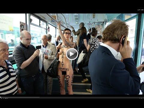 【衝撃】全裸美女芸術家さんのパフォーマンスがヤバい、これは…(※動画あり