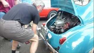 Hand crank starting a Renault 4CV