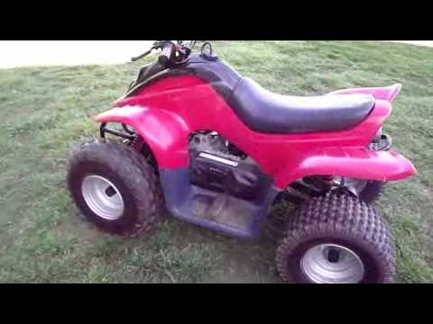 dinli 90cc youth four wheeler atv like polaris predator 90