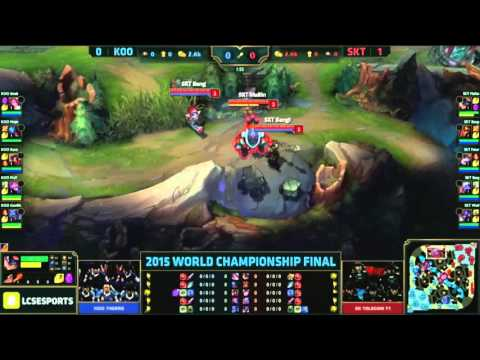 ESL Arena PGW2015 Final des Worlds   SKT Telecom vs KOO Tigers Game 2