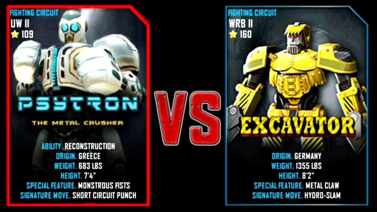 Excavator Real Steel Wrb Real Steel Wrb Psytron vs
