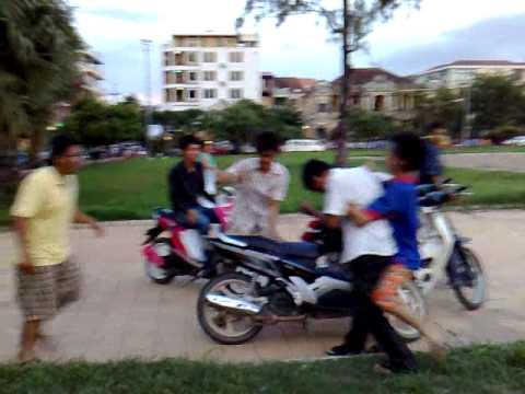 khmer students fighting