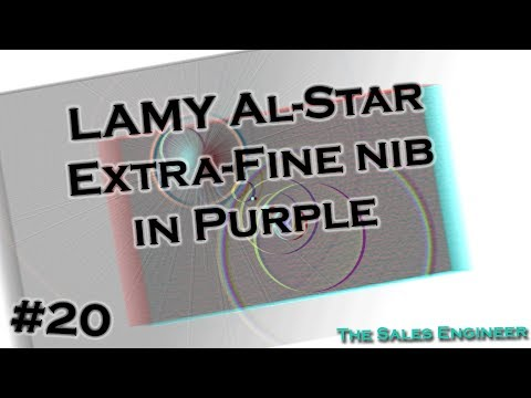 Review LAMY Al-Star Extra Fine nib in Purple