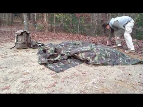 Tarp Shelter Setup for Winter - Bushcraft USA 10x10